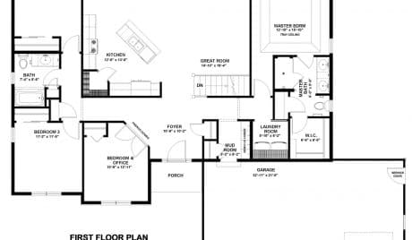 bear homes, floor plans, carrington